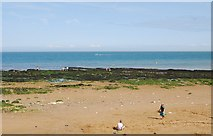 TR4068 : Wave Cut Platform, East Cliff, Broadstairs by N Chadwick