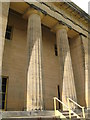 NZ0878 : Belsay Hall - portico by Mike Quinn