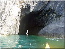 SH1825 : A tempting natural arch for a kayaker! by Nick R