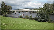 NS3975 : Artizan Bridge and River Leven by Richard Webb