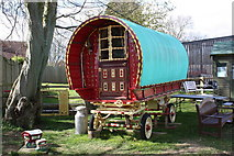 TQ9534 : Gypsy Caravan at Rare Breeds Centre, Woodchurch by Oast House Archive