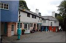 SH5837 : Street Scene, Portmeirion by Trevor Harris