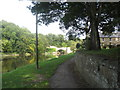 NU2406 : The River Coquet downstream at St Michaels church Warkworth by Dr Duncan Pepper