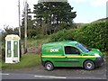 G8147 : Telephone box and post van, Glenade by Kenneth  Allen