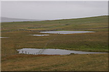 HP5801 : Loch of Broomhill and other un-named lochans, Uyeasound by Mike Pennington