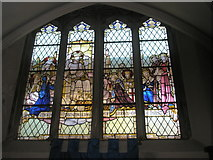 SU6400 : Stained glass window on the north wall at All Saints, Portsea by Basher Eyre