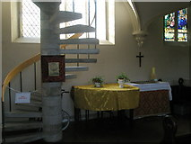 SU6400 : Spiral staircase within All Saints, Portsea by Basher Eyre