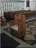 SU6400 : The incumbent's chair at All Saints, Portsea by Basher Eyre