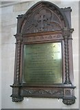 SU6400 : Memorial plaque on the north wall at All Saints, Portsea by Basher Eyre