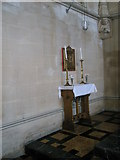 SU6400 : Table near the altar at All Saints, Portsea by Basher Eyre