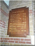 SU6400 : The incumbency board at St Luke's, Portsea by Basher Eyre
