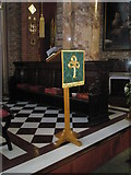 SU6400 : The lectern at St Agatha's, Portsea by Basher Eyre