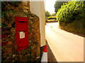 SY3392 : Lyme Regis: postbox № DT7 135, Haye Lane by Chris Downer