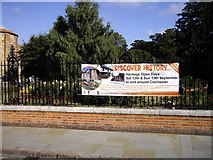 TL9925 : Discover History sign at Castle Park by PAUL FARMER