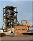 SE7423 : Goole port (3) – coal wagon hoist, Railway Dock by Stephen Richards
