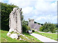 SS4992 : Standing Stone, Llanrhidian by Colin Smith