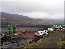 SS8591 : Preparing the site of a new comprehensive school, Maesteg. by David Lewis