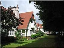 SJ3384 : Houses at Port Sunlight (Tile-Hung Gables, Chalet Roofs) by Gerald Massey