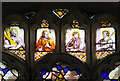 TG3500 : St Michael's church - west window (detail) by Evelyn Simak