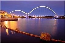 NZ4519 : Infinity Footbridge by Mick Garratt