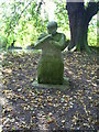 SP7613 : Statue beside River Thame by Graham Hale