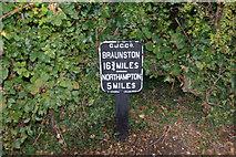 SP7155 : Milepost at Gayton Junction by Stephen McKay