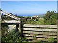 SM9137 : View from a footpath near the Strumble VOR by Pauline E
