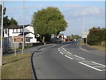 SJ3464 : Former Broughton and Bretton level crossing on the A5104 by John S Turner