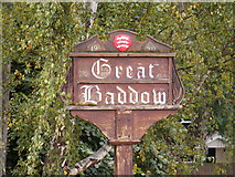 TL7204 : Great Baddow Village Sign by Adrian Cable
