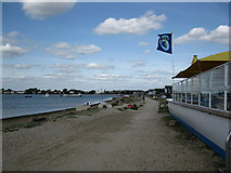 SZ1891 : The track along Mudeford Spit by the cafe by don cload