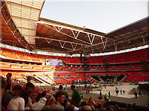 TQ1985 : Wembley: inside the stadium by Chris Downer