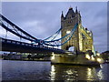 TQ3380 : Tower Bridge at dusk by pam fray