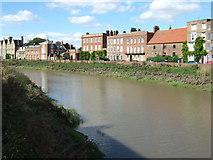 TF4509 : River Nene and North Brink, Wisbech by Richard Humphrey