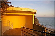 TG2142 : Shelter on access to Beach, Cromer, Norfolk by Christine Matthews