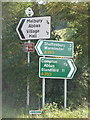 ST8720 : Melbury Abbas: direction signs on the A350 by Chris Downer
