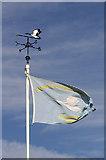 NU0445 : Berwick-upon-Tweed (Goswick) Golf Club flag by Walter Baxter