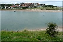 NU2410 : Alnmouth across the River Aln by Graham Horn