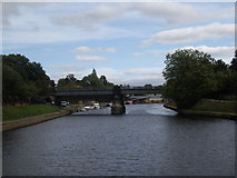 SE5952 : Approach to the Scarborough and Lendal Bridges by Stanley Howe