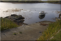 NG2195 : Small slipway in South Harbour, Scalpay by Tom Richardson