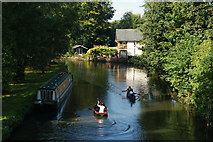 SU9948 : River Wey Navigation at Guildford, Surrey by Peter Trimming