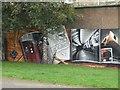 NS5766 : Mural, Kelvingrove Park. 1 - Subway by Richard Webb