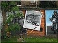 NS5766 : Mural, Kelvingrove Park. 8 - bicycles, ordinary by Richard Webb