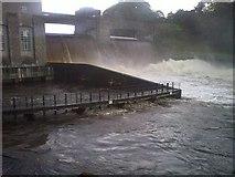 NN9357 : Loch Faskally Breaches Pitlochry Dam by Steve Reeves