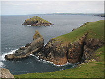 SW9381 : The Mouls viewed from The Rumps by Philip Halling