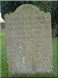 ST8992 : Clarkson gravestone at St Mary's Tetbury. by Paul Best