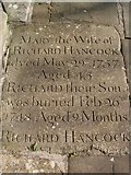 ST8992 : Hancock gravestone St Mary's Tetbury. by Paul Best