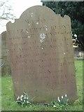 ST8992 : Lloyd gravestone St Mary's Tetbury. by Paul Best