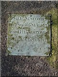ST8992 : William Newcombe gravestone St Mary's Tetbury. by Paul Best