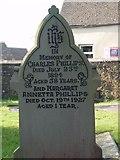 ST8992 : Phillips family gravestone St Mary's Tetbury. by Paul Best