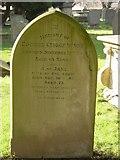 ST8992 : Rudder family gravestone St Mary's Tetbury. by Paul Best